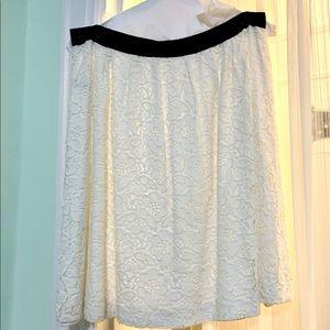LOFT White Lace Skirt